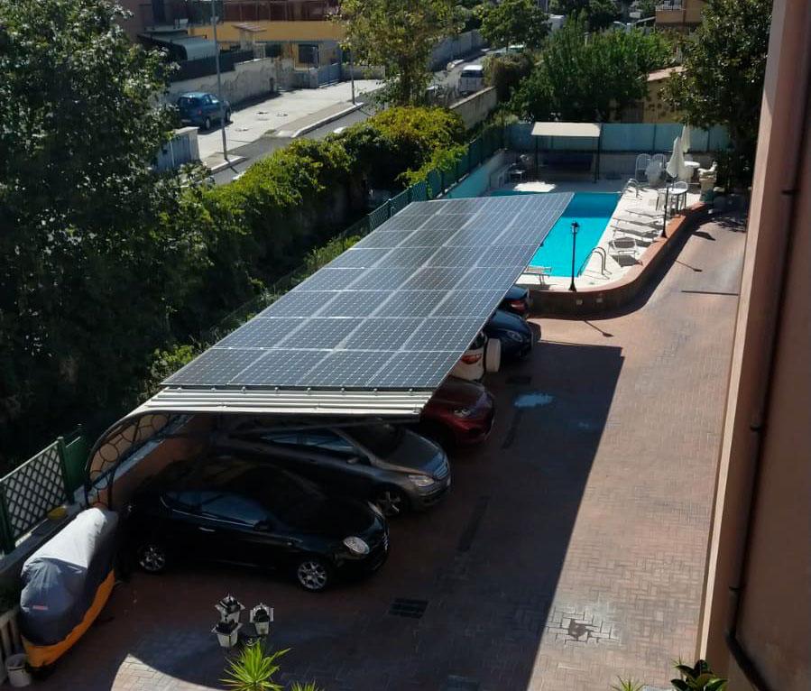 Impianto fotovoltaico Equadro Roma
